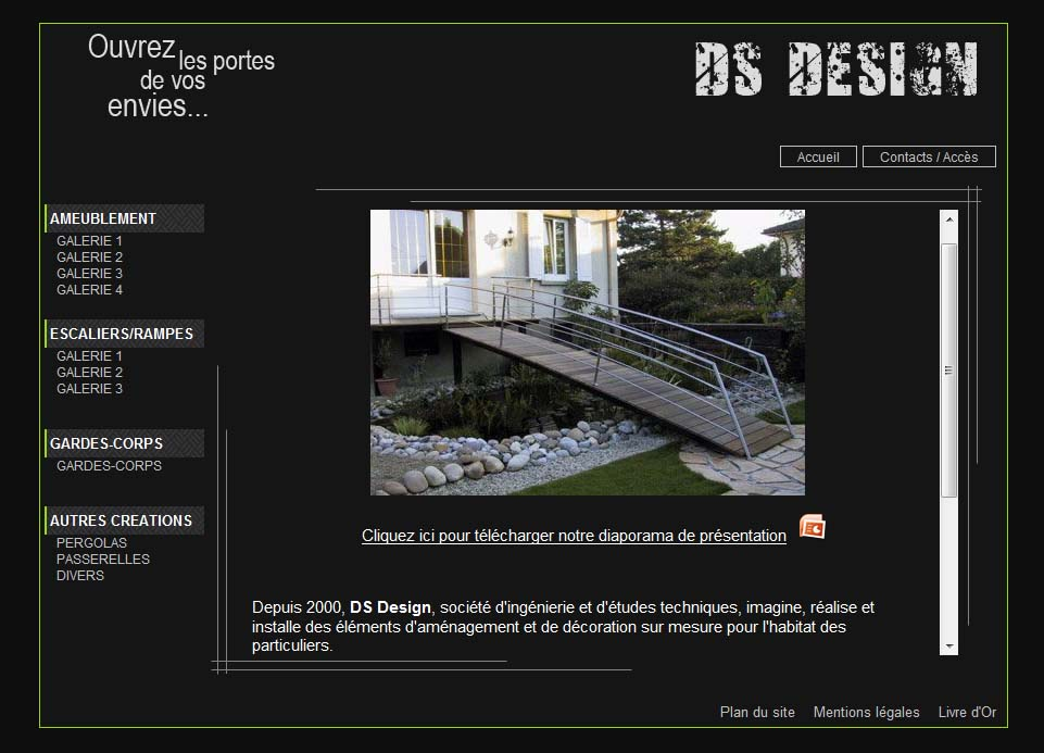 DS Design site Internet 2009